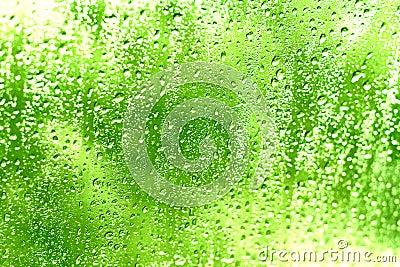 Gocce dell acqua su una finestra