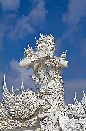 God of death statue at white temple