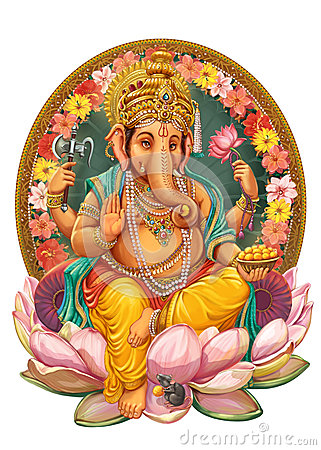 Free God Ganesha. Royalty Free Stock Images - 59577359