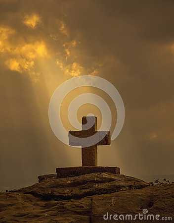 Free God Rays And Christian Cross Stock Photos - 62536183