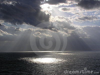 God Rays enroute to St. Thomas