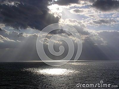 God Rays enroute to St. Thomas