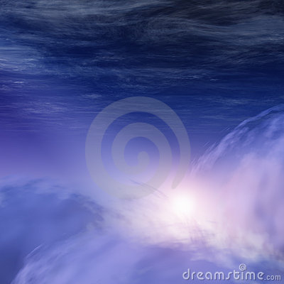 God-rays in Heavenly Clouds