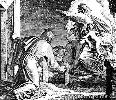 God shows Abraham Stars Stock Photo