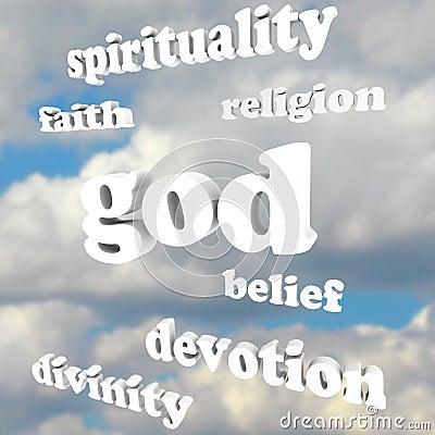 God Spirituality Words Religion Faith Divinity Devotion