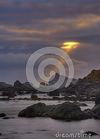 God-straal van licht
