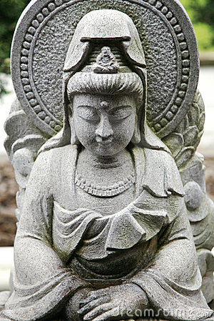 Free Goddess Kwan Yin Sculpture Royalty Free Stock Images - 13427409