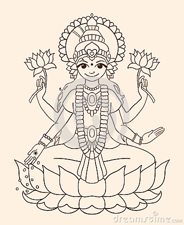 Goddess Lakshmi - brings wealth and prosperity.