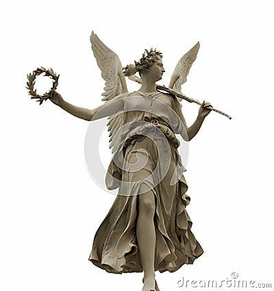 Free Goddess Nike, Isolated On White Stock Photo - 25942010