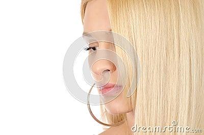 Goden hair