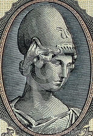 Godess Athena Editorial Stock Photo