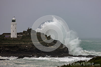 Godrevy - weathering the storm. Editorial Photography