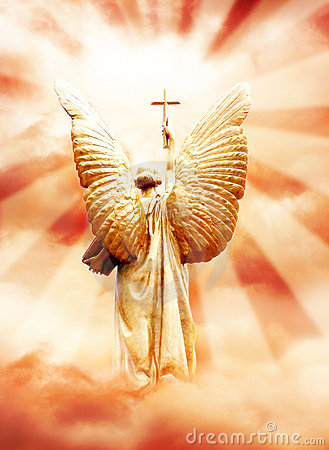 Free Gods Angel With The Cross Stock Photos - 7163473