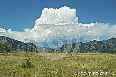 Big Clouds in a Blue Sky