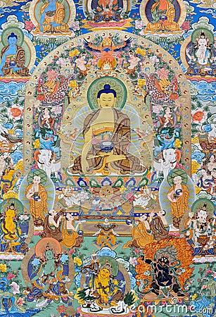 Godsdienst het schilderen, Tibet, China