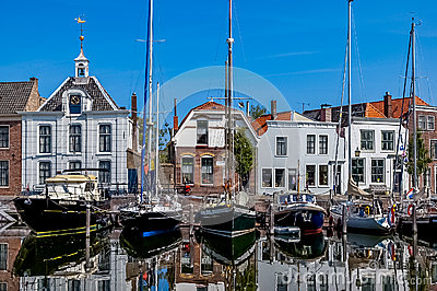 Goes harbour in the Netherlands Editorial Photo