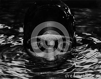 Goggled Swimmer