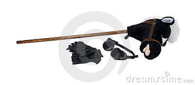 Goggles Gloves and Hobby Horse