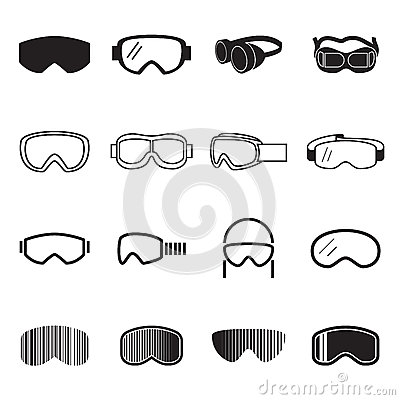 Free Goggles Icons. Safety Glasses Icons Royalty Free Stock Images - 67644299