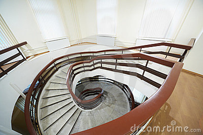 Going down spiral staircase