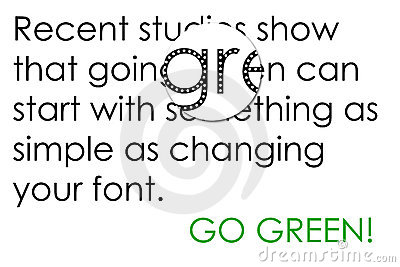 Going Green with Fonts