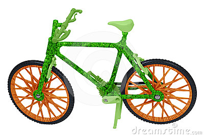 Going Green with a Wood and Grass Bicycle