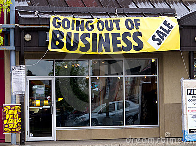 Going out of business Editorial Stock Photo
