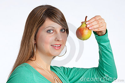 Going to eat a pear