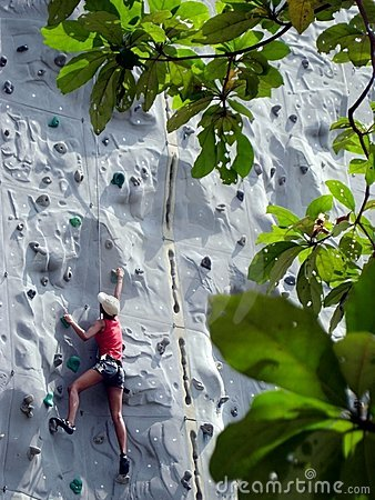 Free Going Up Climbing Wall Stock Photo - 2293480