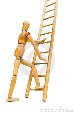 Free Going Up The Ladder Royalty Free Stock Images - 23999689