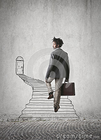 Free Going Up The Stairs Stock Photo - 46746400