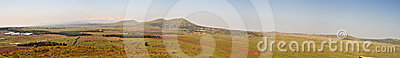 Golan Heights landscape panorama