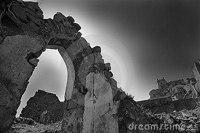 Golcunda Fort in Hyderabad-India. Editorial Image