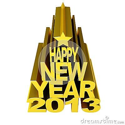 Gold 2012 des glücklichen neuen Jahres