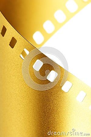 Free Gold 35 Mm Film Macro Stock Photography - 6287862