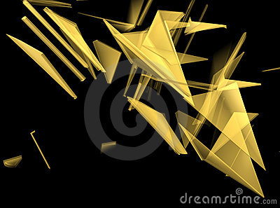 Gold 3D Abstract Background