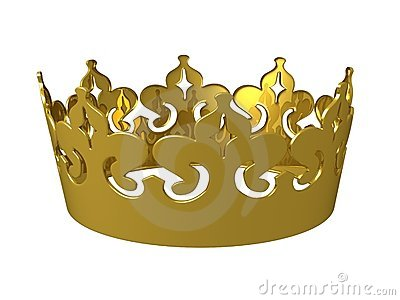 Gold 3d kings crown
