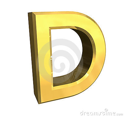 Gold 3d Letter D Royalty Free Stock Images - Image: 3848579