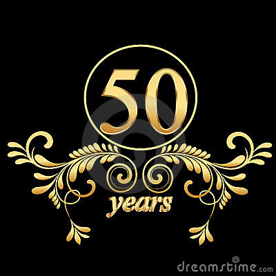 Free Gold 50 Years Stock Photos - 23596303