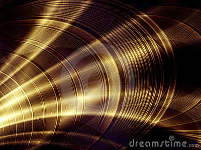 Gold abstract background spotlight