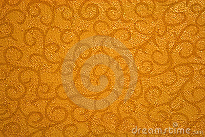 Gold abstract with scrolls