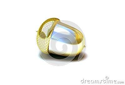 Gold acorn