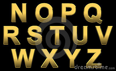 Gold Alphabet N- Z