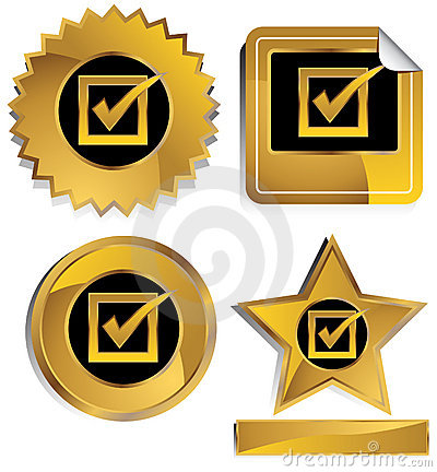 Free Gold And Black - Check Mark Royalty Free Stock Image - 9824306
