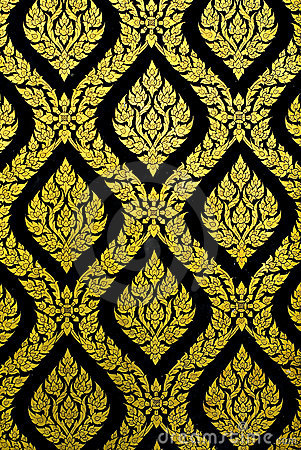 Free Gold And Black Pattern Royalty Free Stock Photography - 7776397