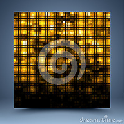 Free Gold And Black Vector Mosaic Abstract Background Royalty Free Stock Photo - 35994565