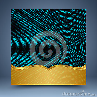 Free Gold And Blue Geometric Abstract Background Stock Photo - 35265260