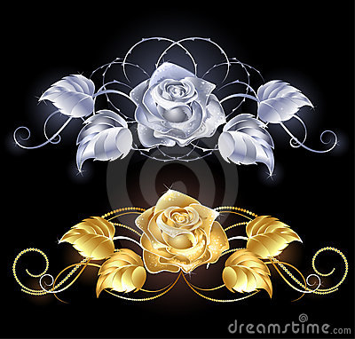 Free Gold And Silver Rose Royalty Free Stock Image - 20598896