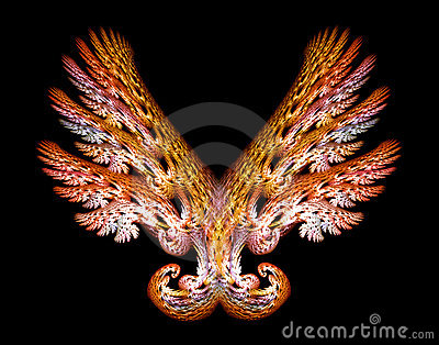 Gold Angel Wings Emblem over Black