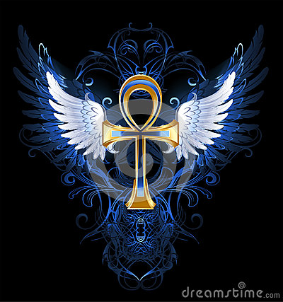 Wing Gold >> Gold Ankh Stock Image - Image: 32989761